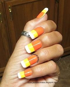 candy halloween nail art