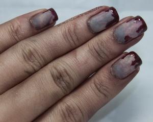 Zombie halloween nail art design