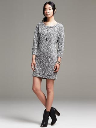 Boucle Sweatshirt Dress