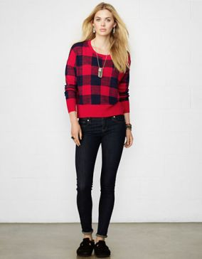 Denim & Supply Ralph Lauren Buffalo Check Cropped Sweater