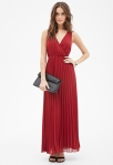 FOREVER 21 Accordion-Pleated Maxi Dress