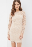 FOREVER 21 Floral Lace Sheath Dress