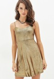 Forever21 Glitter Lamé Cami Dress