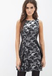 LOVE 21 Abstract Metallic A-Line Dress